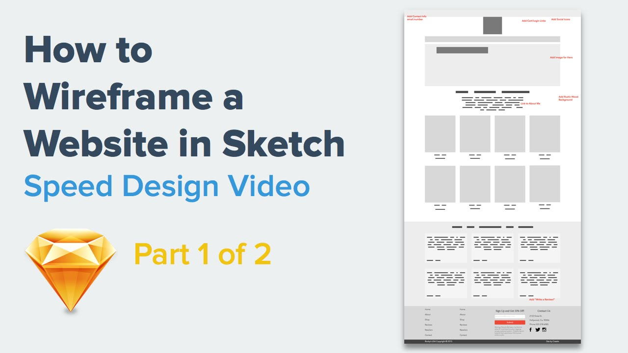 How to Wireframe a Website | Speed Design in Sketch 3 - YouTube