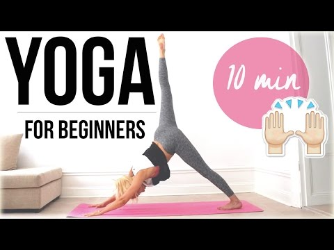 10 min yoga routine for beginners ♥ (Eng sub)