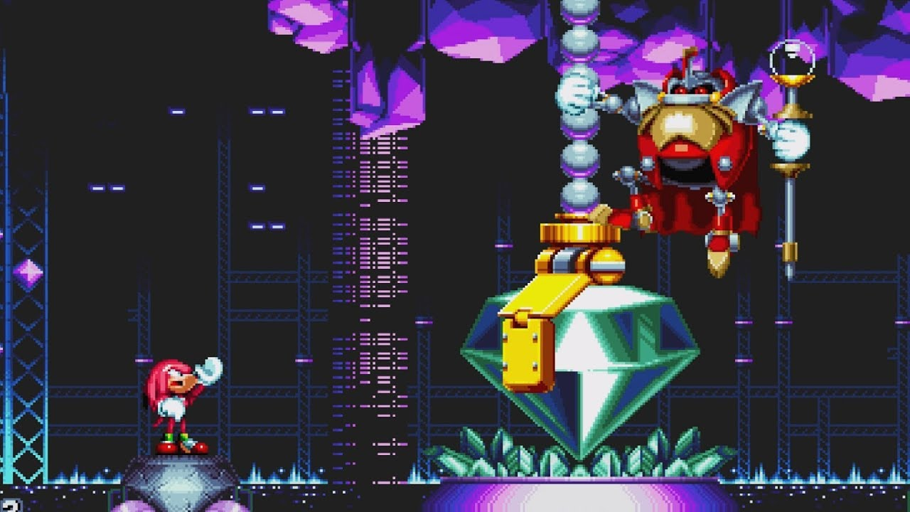 sonic mania knuckles exclusive boss fight lava reef act