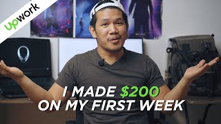 How I made $200 in my First week on UPWORK