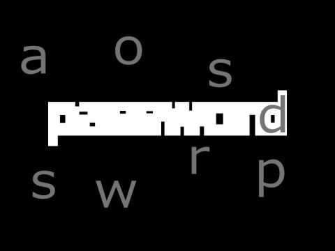 """Kinetic typography """"inspired by Word As Image""""2013"""