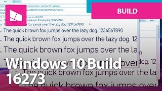 Windows 10 Build 16273 - Fonts, My People, Settings, Edge + MORE
