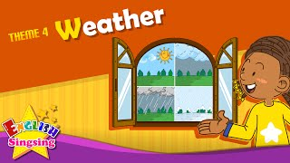 Theme 4. Weather - How's the weather? It's sunny. | ESL Song & Story - Learning English for Kids