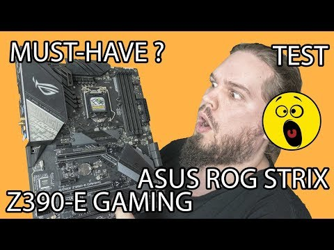 Test Asus Rog Strix Z390 E Gaming Un Must Have Youtube