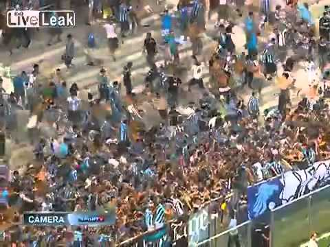 Human Avalanche Breaking Stadium Fence in Brazil