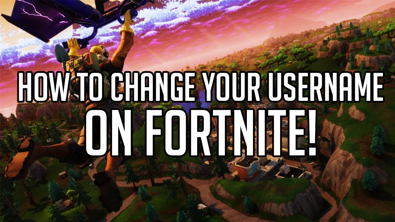How To Change Your Username On Fortnite Easy Youtube - how to change your username on fortnite easy