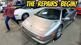 homepage tile video photo for My Lamborghini Diablo Has Pleasant/Sticky Surprise, Milled Shaft on a Mustang, & a Polished Off BMW?