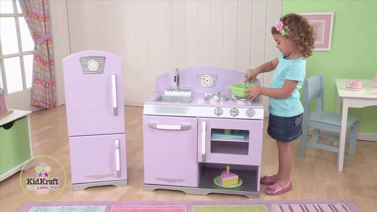 Lavender Retro Kitchen And Refrigerator. KidKraft
