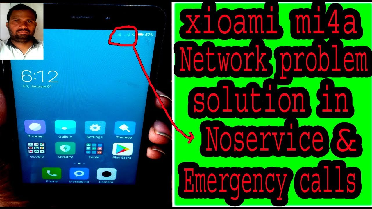 xioami mi4a Network problem solution in noservice & emergency calls