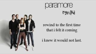 Paramore - Rewind [Karaoke/Instrumental]