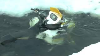 Утопили Снегоход BRP Summit, а как достать из полыньи???)))