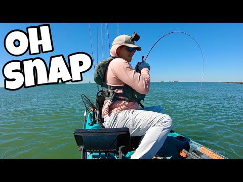 4 miles offshore in a KAYAK | MONSTERS **DESTROY** tiny bass rod