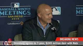 Nationals announce new seven-year deal for Stephen Strasburg thumbnail