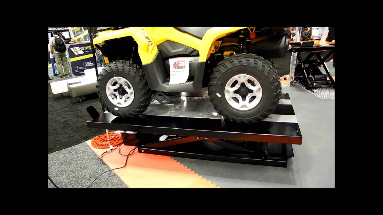 Handy 1500 Lb Electric Motorcycle ATV Lift Table   YouTube