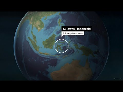 Animated Map Shows The Epicenter Of The Indonesia Quake