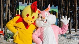 Мультфильм ПИПИТО 2 серия. Петушок Пипито играет на детской площадке с кроликом
