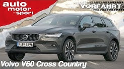 Volvo V60 Cross Country (2019): Besser als sein flacher Bruder? - Review | auto motor & sport