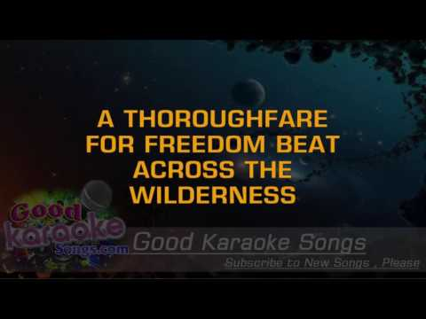 America The Beautiful - Ray Charles ( Karaoke Lyrics )