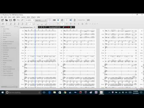 The 1989 Batman theme made in MuseScore (sheet music)