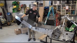 Episode #9, Tunnel extension part 1!  Skidoo 700 Rev Mod sled, PowerModz!
