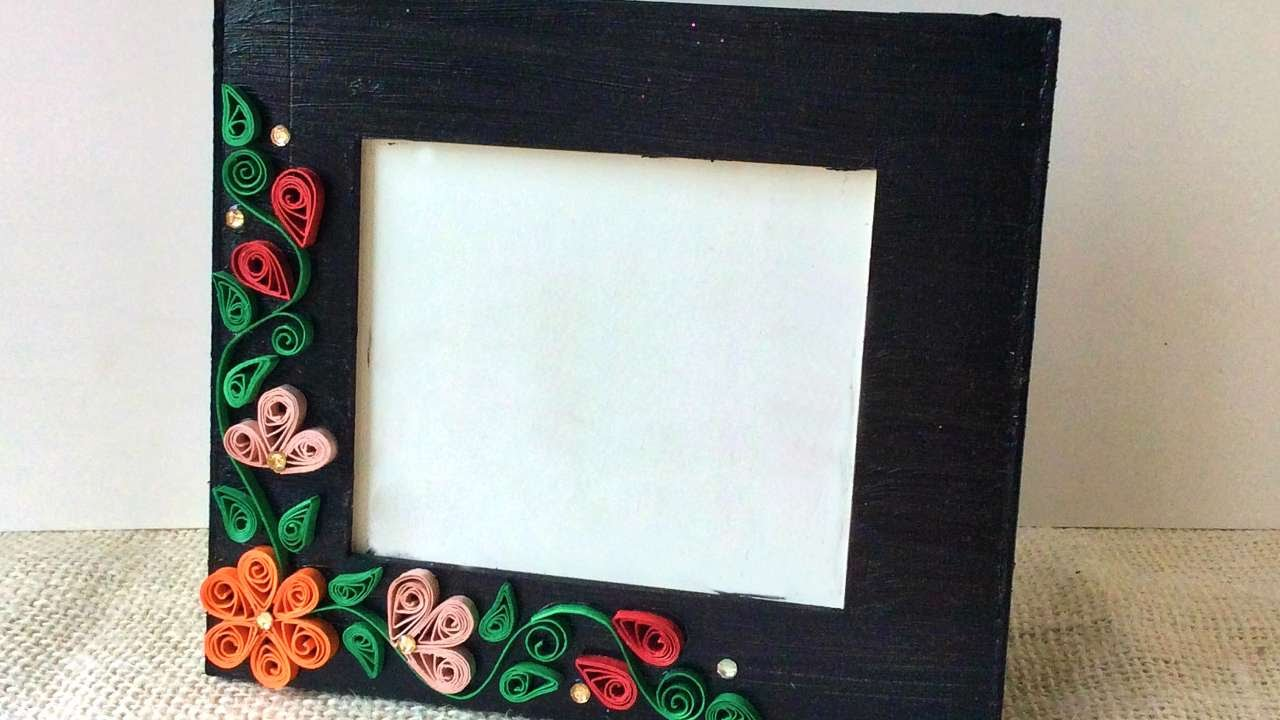How To Create A Simple Quilled Photo Frame Diy Crafts
