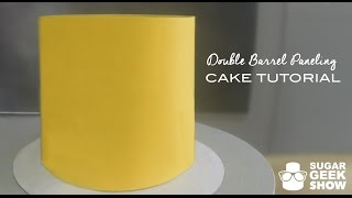 How to cover a Double Barrel Cake Paneling Tutorial