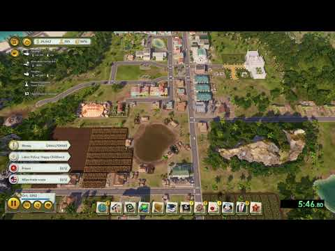 Tropico 6 - Better Red Than Dead Speedrun - Easy Difficulty in 14:28  