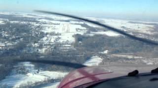Winter landing at 88C, Palmyra WI