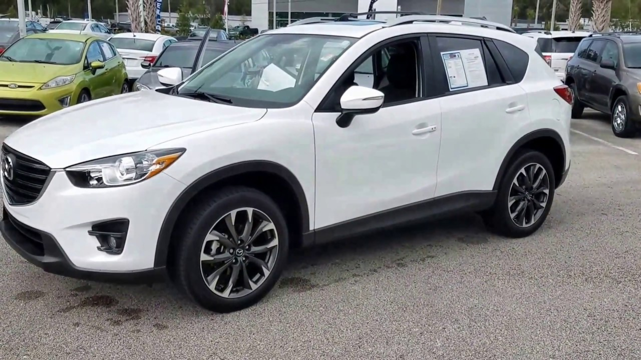 Melvin S 2016 Mazda Cx 5 Grand Touring In Snowflake White Pearl At Hodges Mazda At The Avenues
