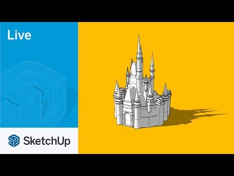 Modeling Cinderella's Castle Live in SketchUp!