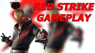 FORTNITE RED STRIKE SKIN GAMEPLAY