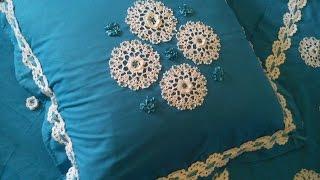 مفارش سرير كروشي رائعة مع الباترن Beautiful Crochet Bed Runner