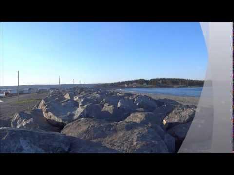 Gabarus seawall in Cape Breton Nova Scotia Canada