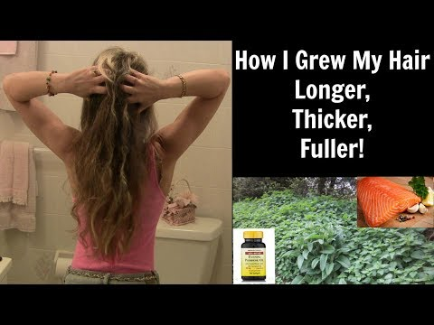 How Grew My Hair Longer Thicker And Fuller Stop Hair Loss Thinning Naturally
