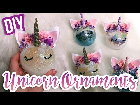 DIY UNICORN ORNAMENTS! How To Make a Unicorn Ornament