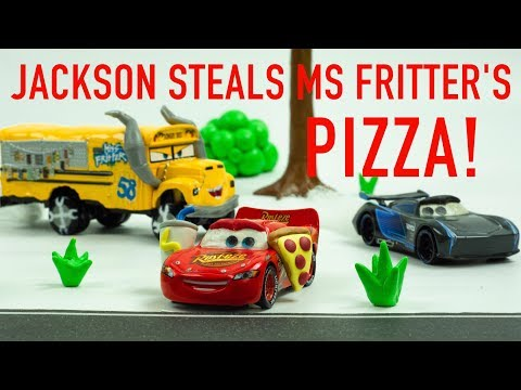 Jackson Storm Steals Miss Fritter's Pizza Slice Cars Chase
