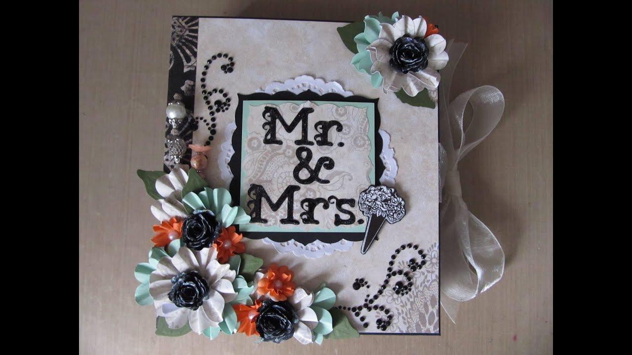 How to scrapbook wedding album - Wedding Scrapbook Album