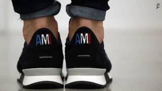 AMI Paris Navy Runner Unboxing   The Sole Supplier