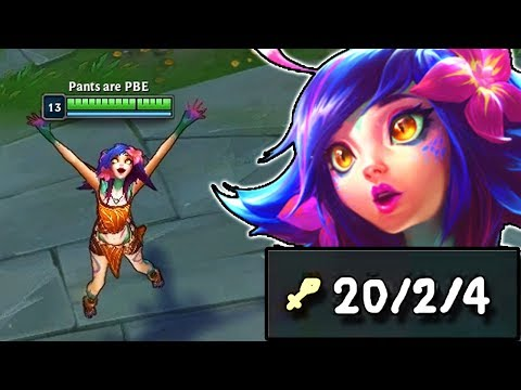NEEKO JUNGLE IS DISGUSTINGLY OVERPOWERED FIRST PENTAKILL WORLDWIDE - League of Legends Gameplay