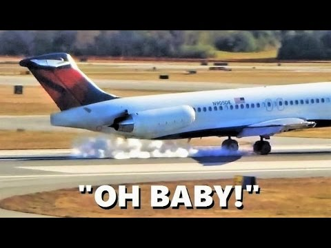 Delta Airlines MD-88 PERFECT Landing (with Funny Reaction)