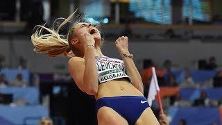 Yuliya Levchenko attempts  at European Athletics indoor championship BELGRADE 2017. High jump women