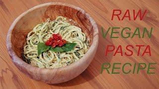 Raw Vegan Mediterranean Pasta Sauce Recipe - With Zucchini Noodles !