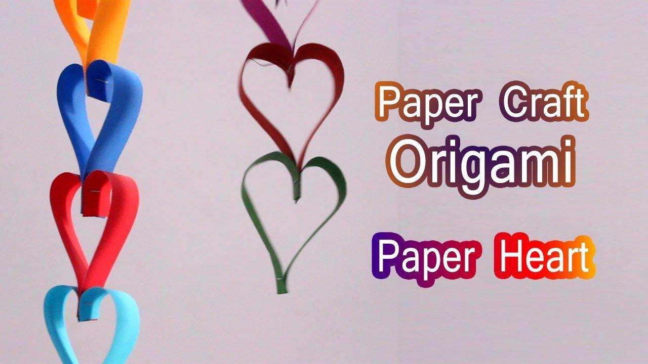 DIY Heart Wall Decor In Paper