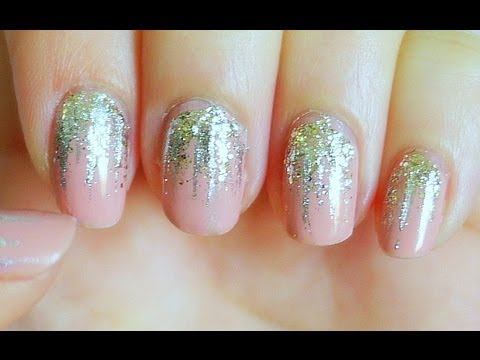 Easy falling glitter nails youtube prinsesfo Images