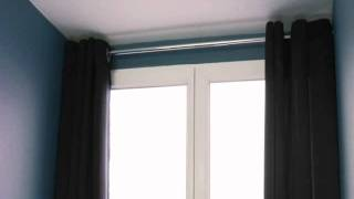 play poser une tringle sans percer les mursflv. Black Bedroom Furniture Sets. Home Design Ideas