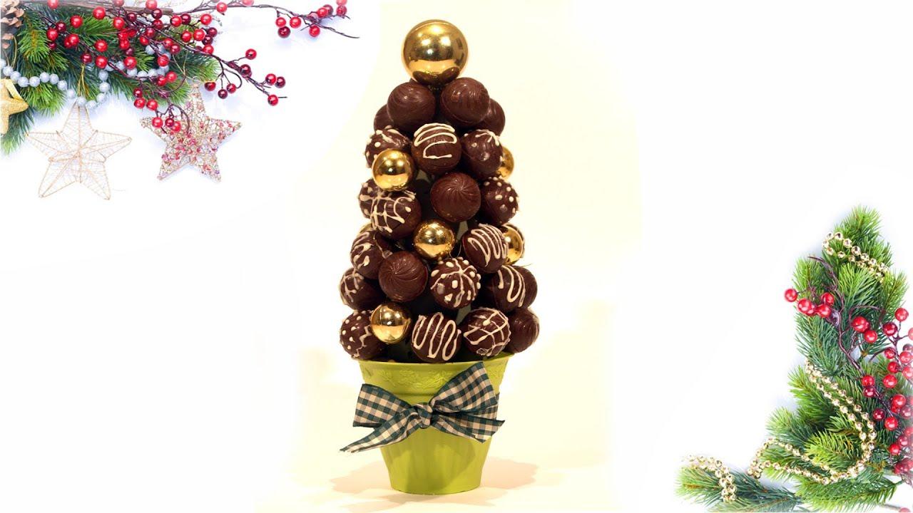 Arbolito de navidad con bombones o cakepops diy - Centros de mesa navidad 2014 ...