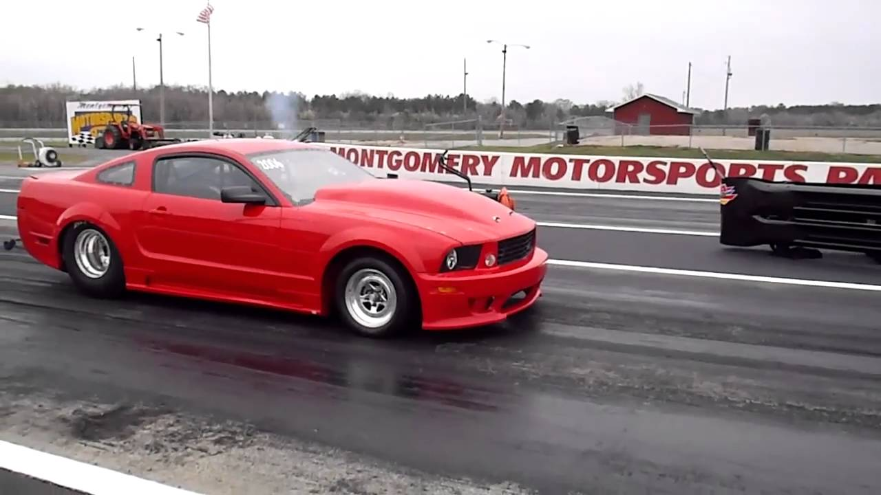 Saleen Ford Mustang Drag Car Montgomery Motorsports Park