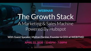 """The Growth Stack: A Marketing & Sales Machine Powered by HubSpot"" CSUCI Webinar feat. Mattan Danino"
