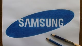 Como desenhar o logotipo da Samsung I How to draw the Samsung logo - Atevaldo Novais