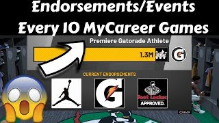 *Must Watch* How To Get Endorsements/Events Every 10 MyCareer Games! Guide For Endorsements/Events..
